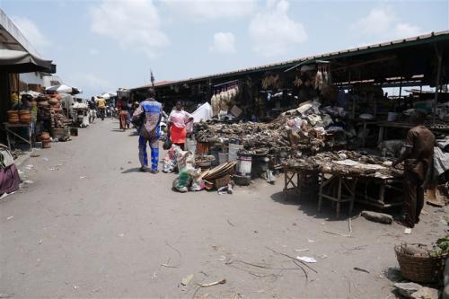 Vodoo market in Benin